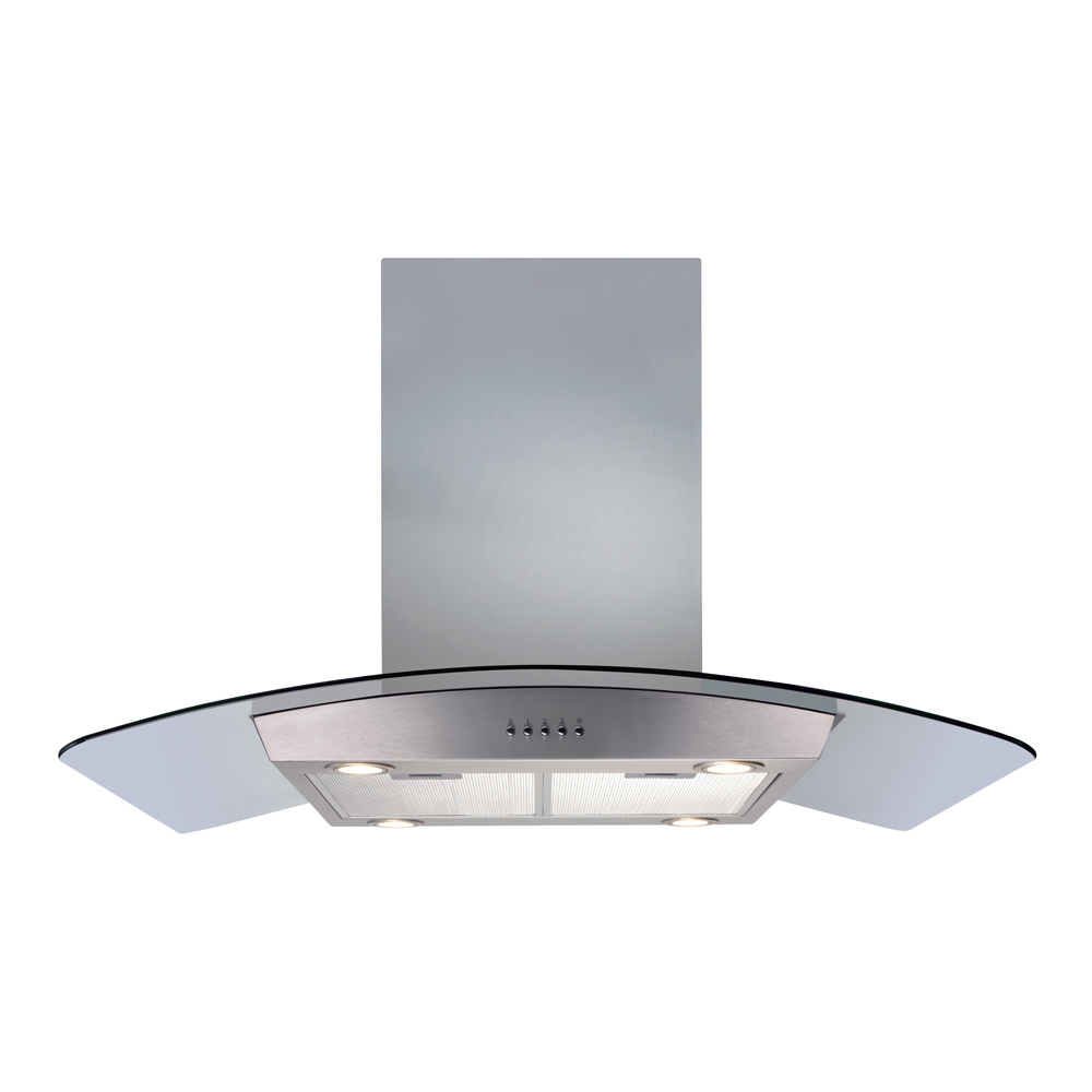 Cda Curved Glass Chimney Extractor Fan