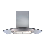ECPK90SS - Curved glass island extractor