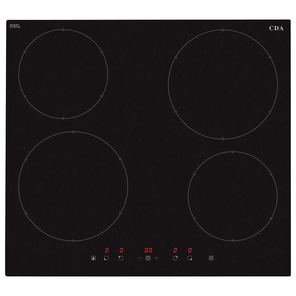 Hn6111fr Four Zone Induction Hob Cda Appliances Built For Your Wiring Zones Kitchen