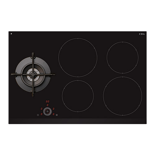 Hng7410fr Four Zone Induction Hob With Single Gas Wok