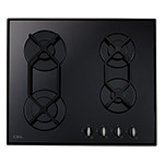 HVG620BL - Four burner gas on glass hob