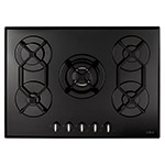 HVG720BL - Five burner gas on glass hob