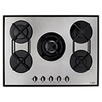 HVG720SS - Five burner gas on glass hob