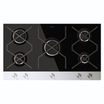 HVG980BL - Designer five burner gas on glass hob