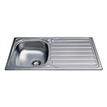 KA20SS - Stainless steel compact single bowl sink