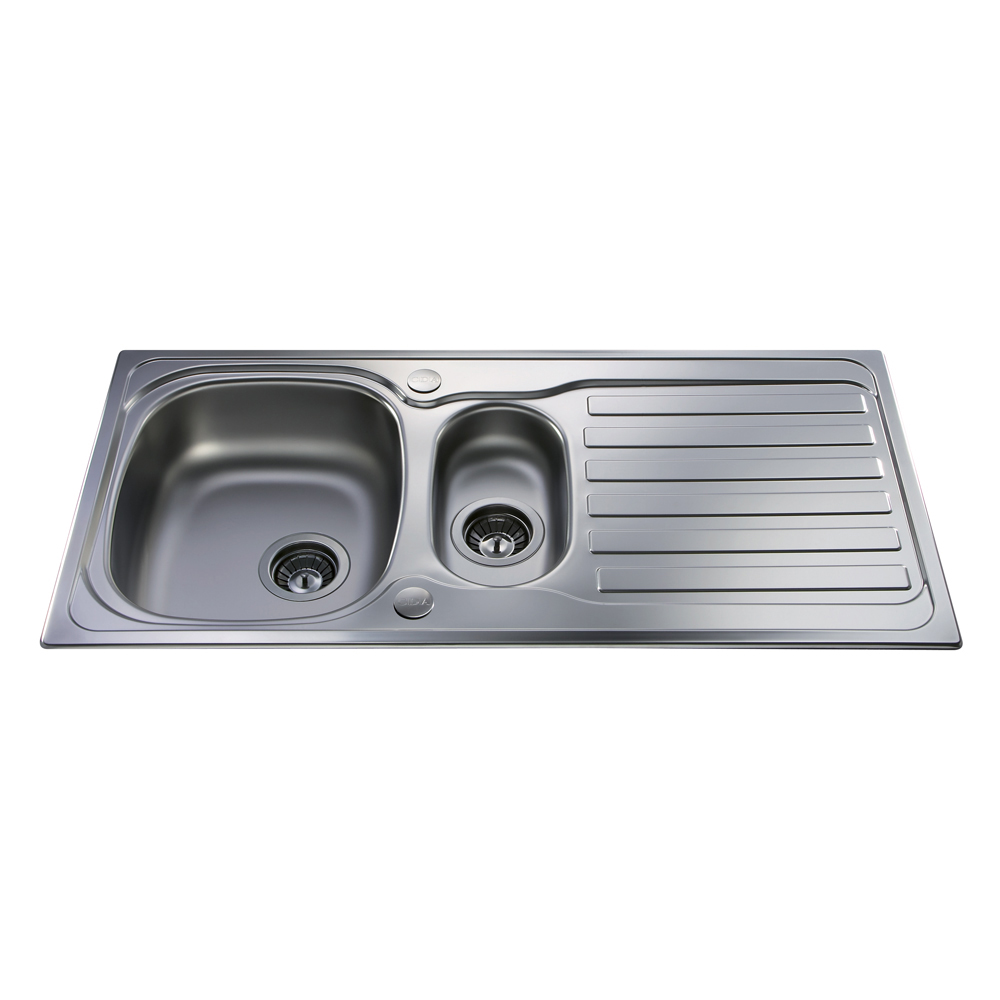 Ordinary One And A Half Sink Part - 5: KA22SS Stainless Steel One And A Half Bowl Sink