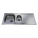 KA22SS - Stainless steel one and a half bowl sink