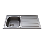 KA30SS - Stainless steel compact single bowl sink