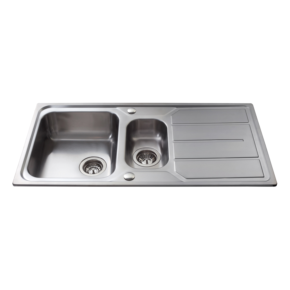 One And A Half Sink Part - 47: KA32SS Stainless Steel One And A Half Bowl Sink