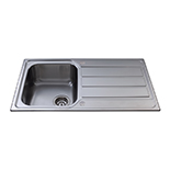 KA50SS - Stainless steel compact single bowl sink