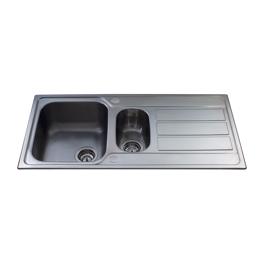 One And A Half Sink Part - 43: KA52SS Stainless Steel One And A Half Bowl Sink