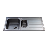 KA52SS - Stainless steel one and a half bowl sink