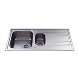 KA72SS - Stainless steel one and a half bowl sink