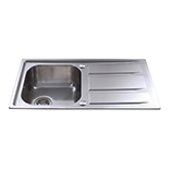 KA80SS - Stainless steel single bowl sink