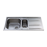 KA82SS - Stainless steel one and a half bowl sink