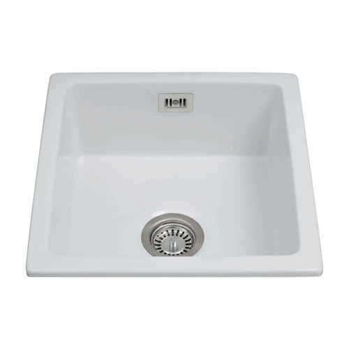 KC42WH - Ceramic undermount single bowl sink