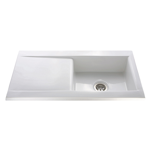 KC73WH - Ceramic single bowl sink