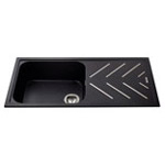 KG81BL - Composite single bowl sink with steel drainer bars