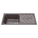 KG81GR - Composite single bowl sink with steel drainer bars