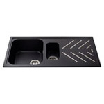 KG82BL - Composite 1.5 bowl sink with steel drainer bars