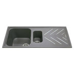 KG82GR - Composite 1.5 bowl sink with steel drainer bars