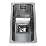 KSC21SS - Stainless steel undermount half bowl sink