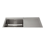 KVF21RSS - Single bowl flush-fit sink with right hand drainer