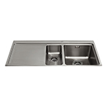 KVF22LSS - One and a half bowl flush-fit sink