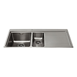 KVF22RSS - One and a half bowl flush-fit sink