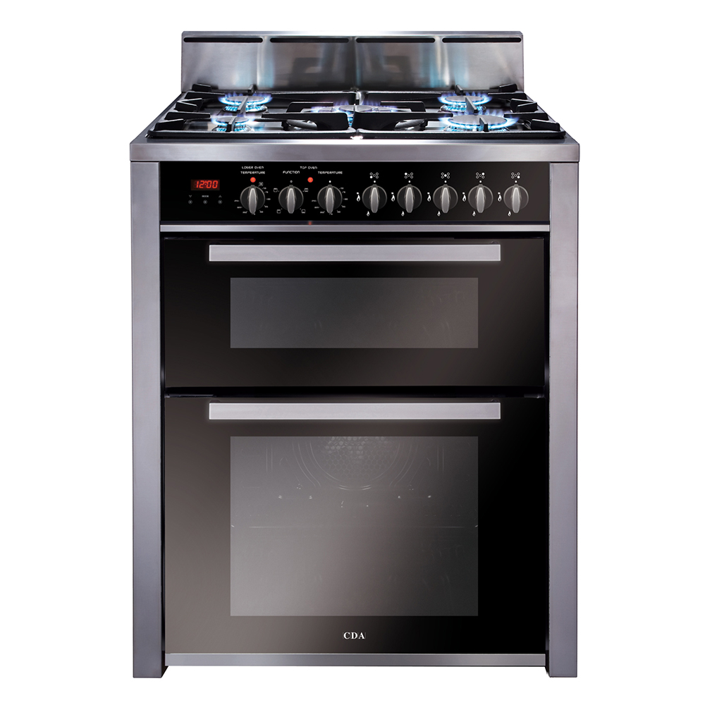 rv701ss 70cm twin cavity dual fuel range cooker cda. Black Bedroom Furniture Sets. Home Design Ideas