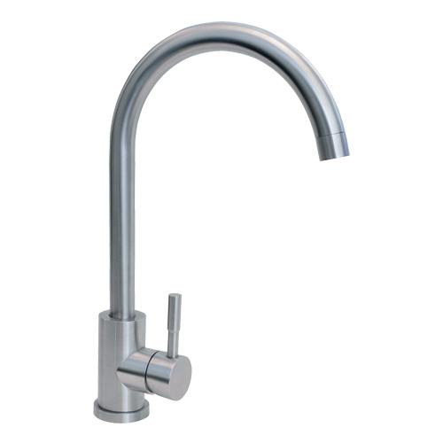 TC31SS - Single lever swan neck stainless steel tap