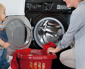 a picture of a freestanding washing machine