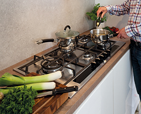 a picture of a gas hob