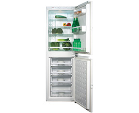 a picture of an integrated fridge freezer