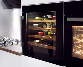 a picture of an integrated wine cooler