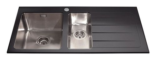 Glass kitchen sinks glass kitchen sink range at cda cda appliances glass is naturally heat resistant and you can safely put hot things onto the surface without fear it is also scratch and stain resistant coming back up to workwithnaturefo