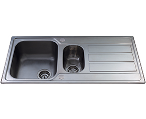 a picture of a stainless steel sink
