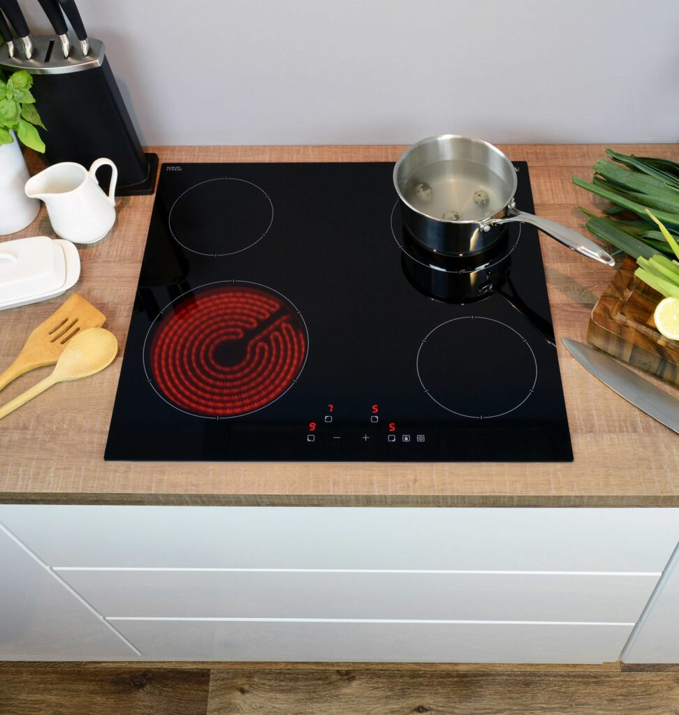 Ceramic Hobs View Cdas Hob Range Today Cda Appliances Wiring Zones Kitchen At The Smallest End Of Scale We Have A Domino Two Zone Model That Features Double Cooking Area And Fits Into 30cm Wide Space