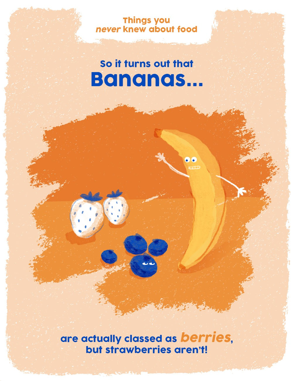 things you never knew about food graphics - bananas are berries