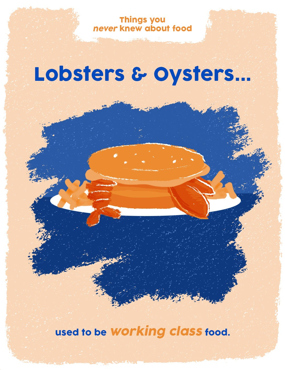 things you never knew about food graphics - lobsters were working class