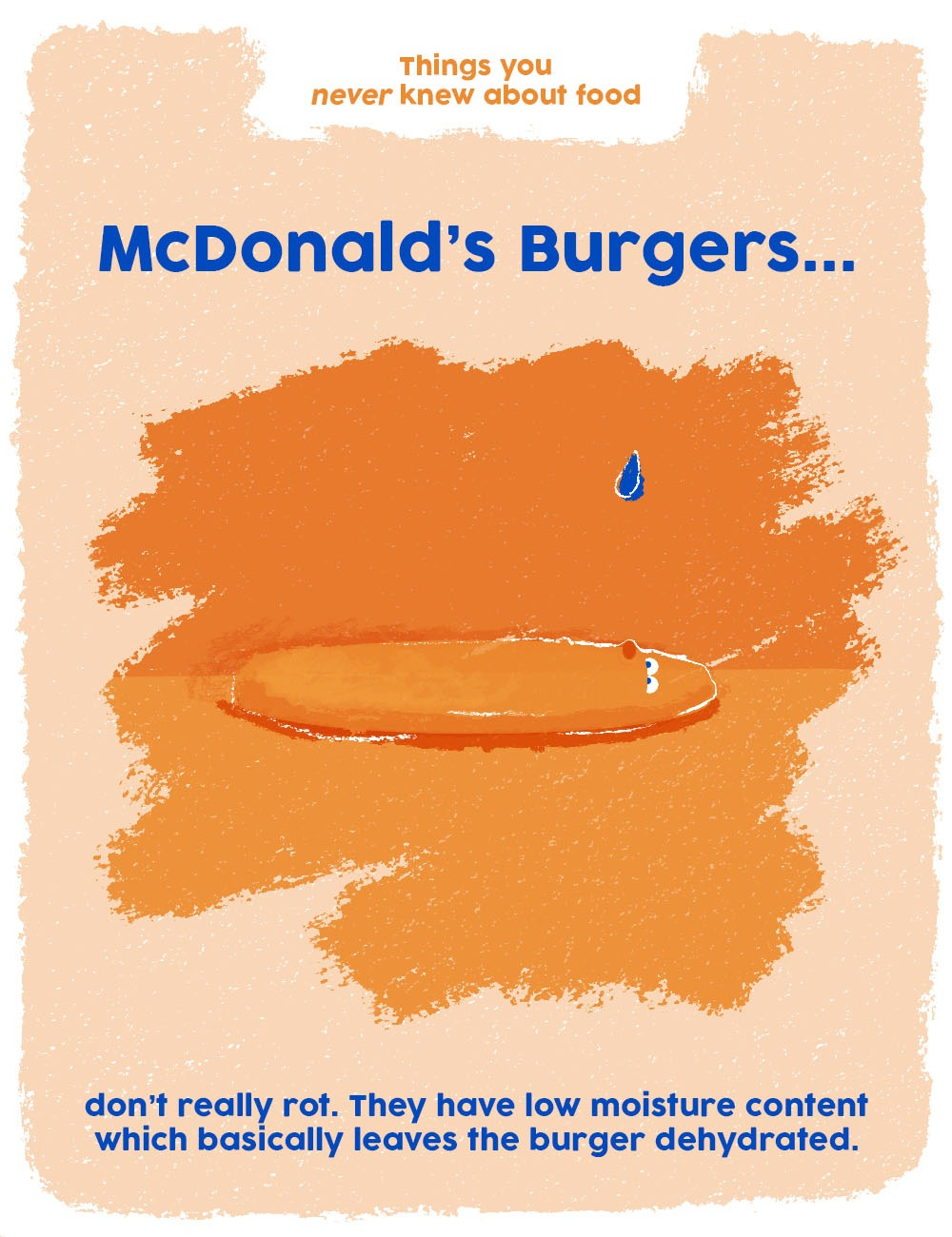 things you never knew about food graphics - mcds burgers don't rot
