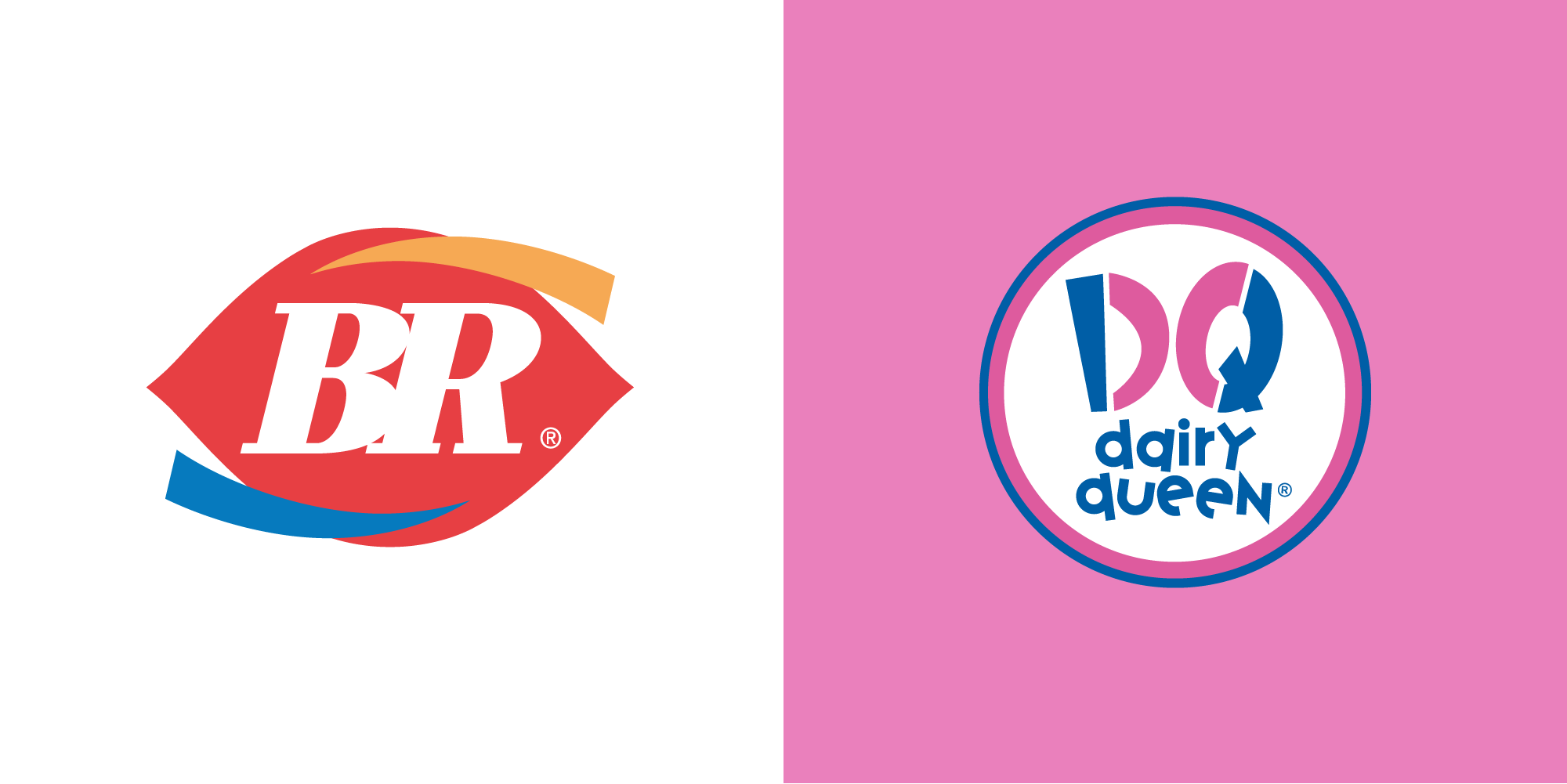 Baskin Robbins Vs Dairy Queen logo - CDA