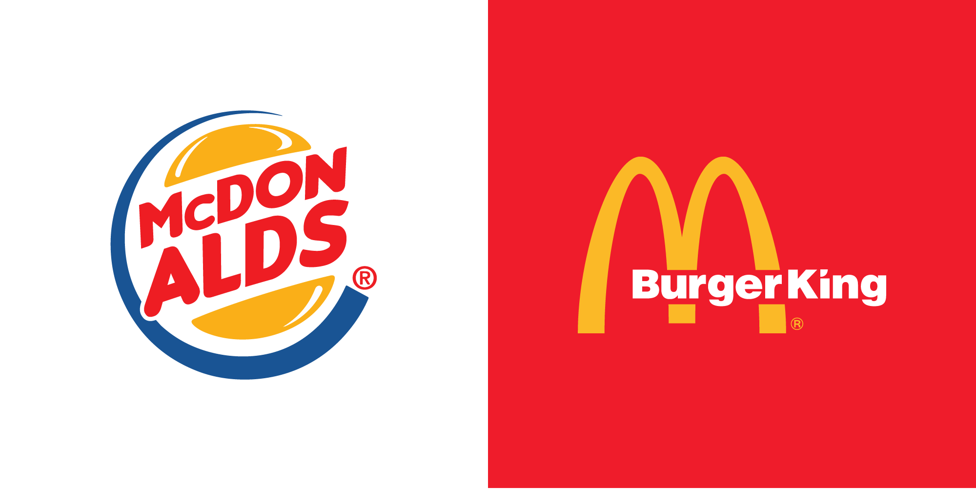 MacDonalds Vs Burger King Logo - CDA