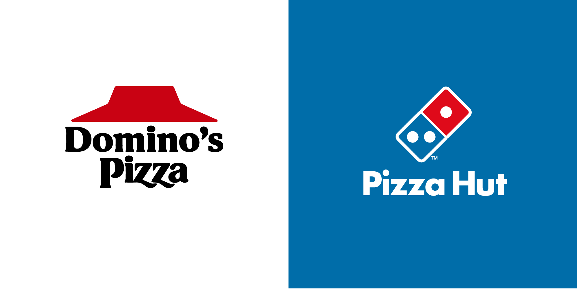 Pizza Hut Vs Domino's logo - CDA