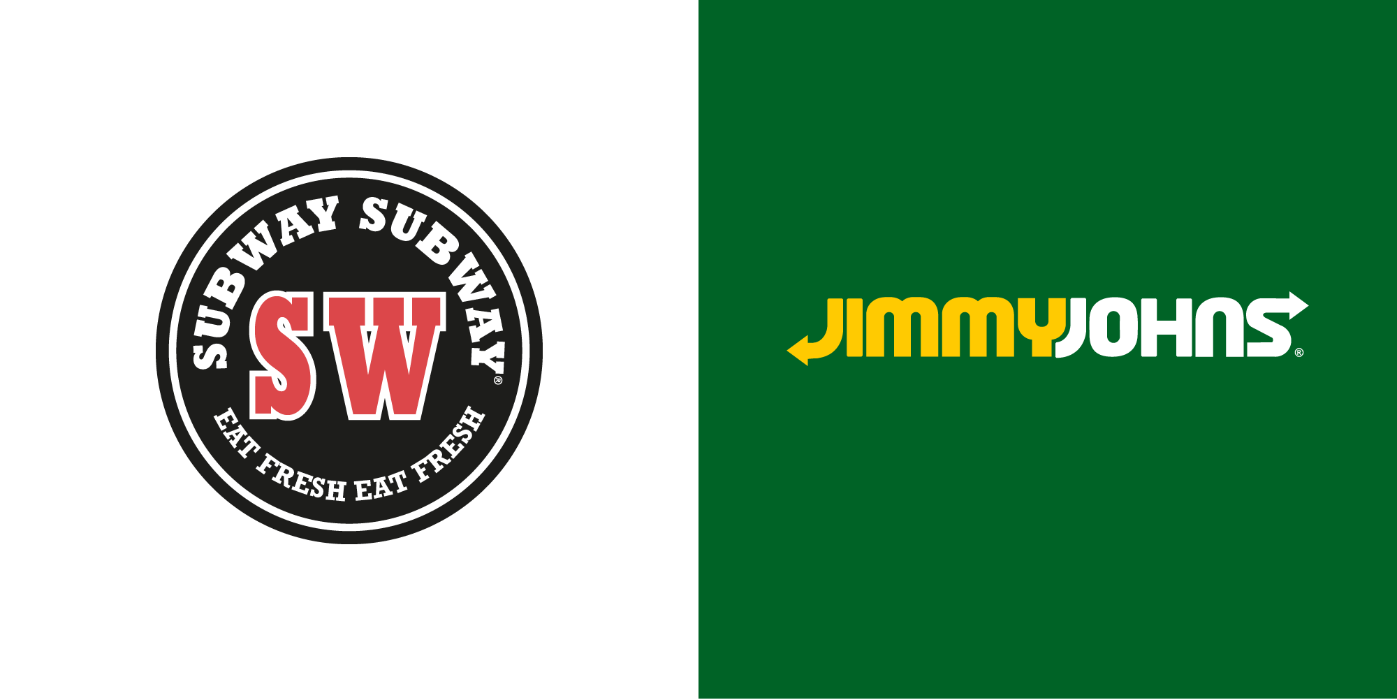 Subway Vs Jimmy Johns logo - CDA