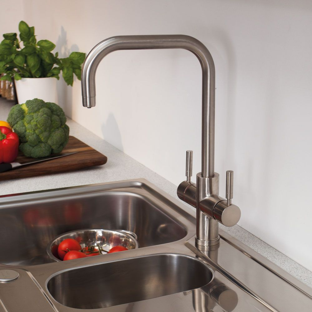 th102BR Brushed Steel Boiling Water Tap - CDA